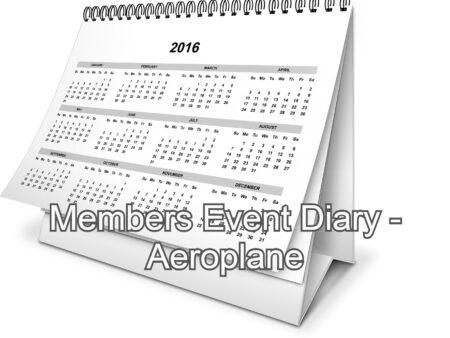 Members Event Diary (Aeroplane)